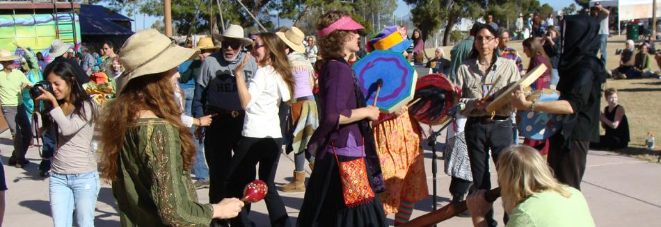 Drumming at the Peace Fair