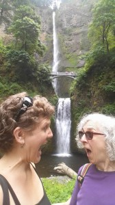 Right before leaving, my mom and I soaked up some Cascade waterfall energy.