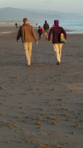 I had not seen my brother Brice in 15 years.  As we walked on the beach, this photo shows so much. We look a lot alike, and walk step in step.